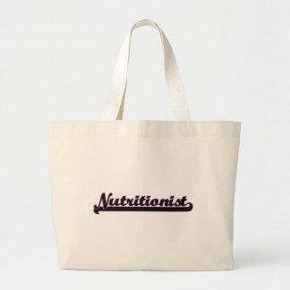 Nutritionist Classic Job Design Jumbo Tote Bag