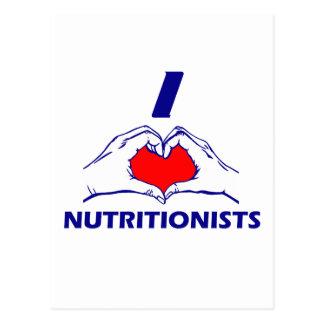 NUTRITIONIST DESIGN POSTCARD