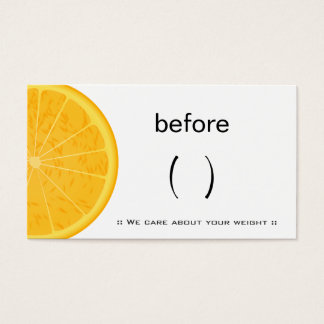 Weight loss gifts on zazzle for Health coach business card ideas