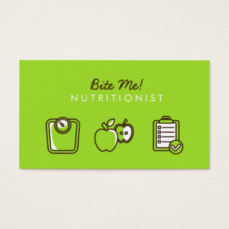 Nutritionist for Clean Eating Business Card