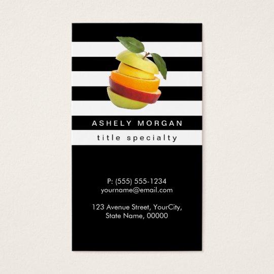 Nutritionist fruits logo black white stripes business card nutritionist fruits logo black white stripes business card colourmoves