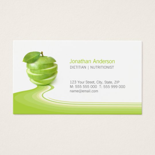Nutritionist healthy eating diet business card zazzle nutritionist healthy eating diet business card reheart Image collections