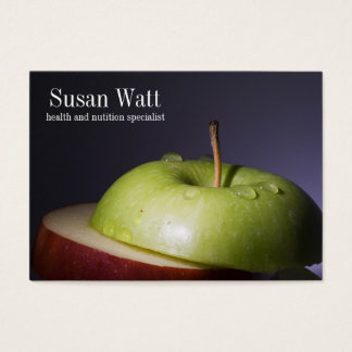 Nutritionist Sliced Apple Business Card