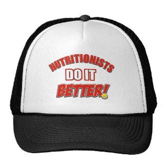 Nutritionists job designs trucker hat