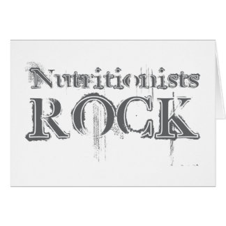 Nutritionists Rock Card