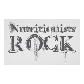 Nutritionists Rock Posters