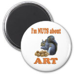 Nuts About Art Refrigerator Magnet