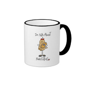 Nuts About Babysitting Tshirts and Gifts Mugs
