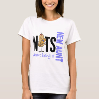 Nuts About Being A New Aunt 1 Blue T-Shirt