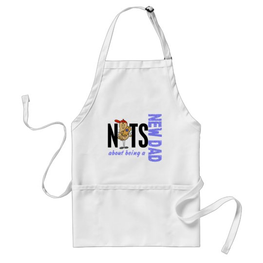 Nuts About Being A New Dad 1 (Blue) Adult Apron