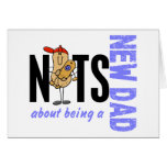 Nuts About Being A New Dad 1 (Blue) Greeting Card