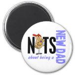 Nuts About Being A New Dad 1 (Blue) Refrigerator Magnets