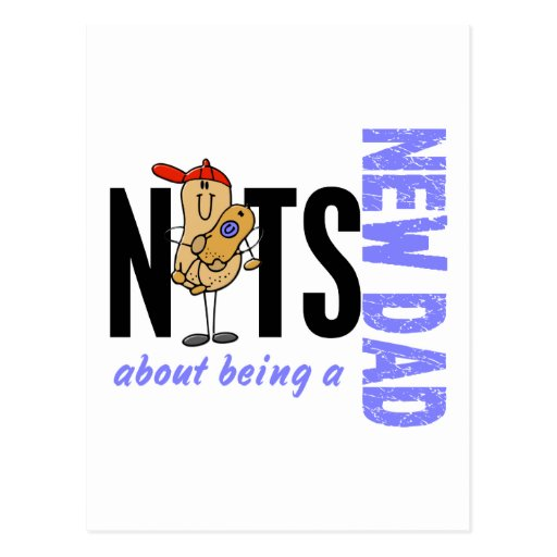 Nuts About Being A New Dad 1 (Blue) Postcards