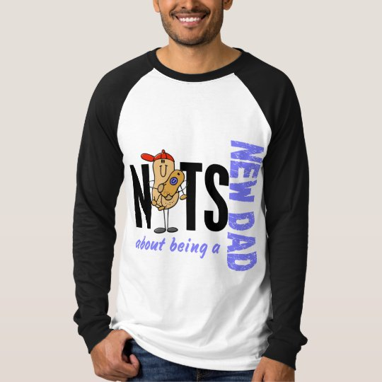 Nuts About Being A New Dad 1 (Blue) T-Shirt