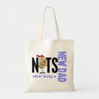 Nuts About Being A New Dad 1 (Blue) Tote Bag