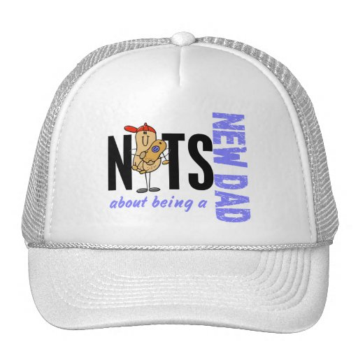 Nuts About Being A New Dad 1 (Blue) Trucker Hat