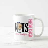 Nuts About Being A New Dad 1 (Pink) Coffee Mug