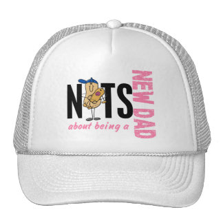 Nuts About Being A New Dad 1 (Pink) Trucker Hat