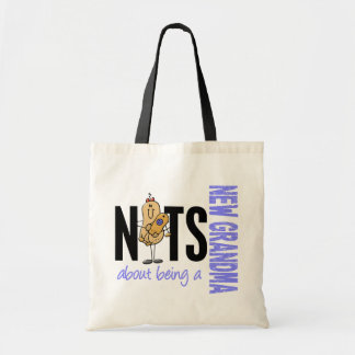 Nuts About Being A New Grandma 1 Blue Tote Bag