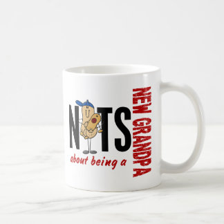 Nuts About Being A New Grandpa 1 Red Coffee Mug