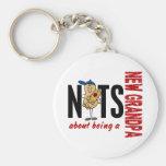 Nuts About Being A New Grandpa 1 Red Keychain