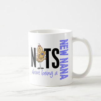 Nuts About Being A New Nana 1 Blue Coffee Mug