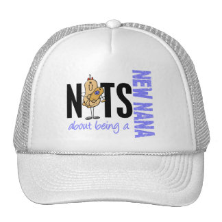 Nuts About Being A New Nana 1 Blue Trucker Hat