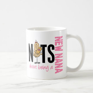 Nuts About Being A New Nana 1 Pink Coffee Mug