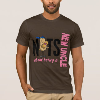 Nuts About Being A New Uncle 1 Pink T-Shirt