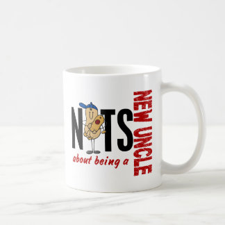 Nuts About Being A New Uncle 1 Red Coffee Mug