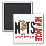 Nuts About Being A New Uncle 1 Red Refrigerator Magnets