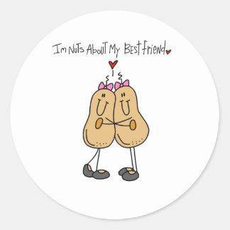 Nuts About Best Friend Sticker