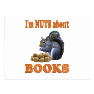 Nuts about Books Postcard