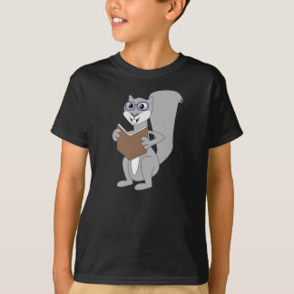 Nuts About Books Squirrel T-Shirt