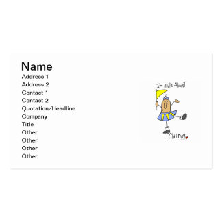 Nuts About Cheering T-shirts and Gifts Business Card