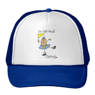 Nuts About Cheering T-shirts and Gifts Trucker Hat