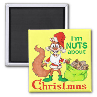 Nuts about Christmas Magnet