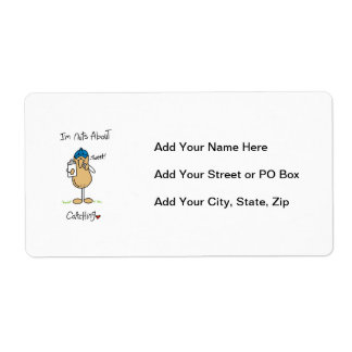Nuts About Coaching T-shirts and Gifts Personalized Shipping Labels