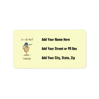 Nuts About Coaching T-shirts and Gifts Personalized Address Labels