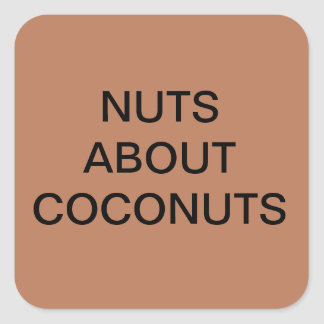 NUTS ABOUT COCONUTS STICKERS