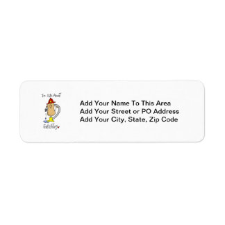 Nuts About Firefghting T-shirts and Gifts Return Address Label