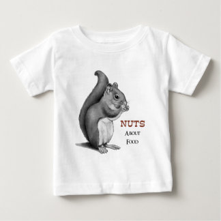 Nuts About Food: Squirrel: Pencil Drawing Shirt