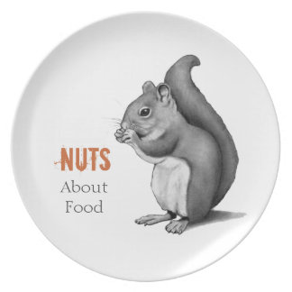 Nuts About Food: Squirrel: Realism Pencil Drawing Plate