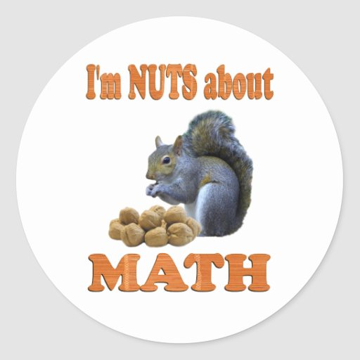 Nuts about Math Classic Round Sticker