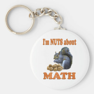 Nuts about Math Basic Round Button Keychain
