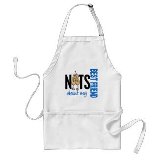 Nuts About My Best Friend 1 Blue Adult Apron