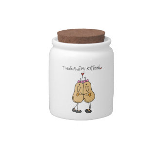 Nuts About My Best Friend T-shirts and Gifts Candy Dishes