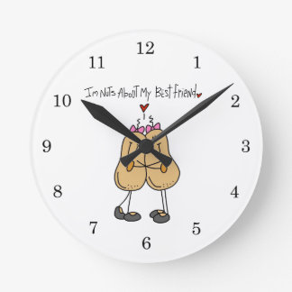 Nuts About My Best Friend T-shirts and Gifts Clock