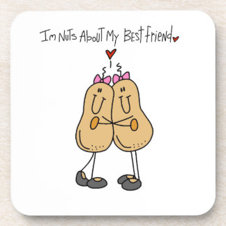 Nuts About My Best Friend T-shirts and Gifts Beverage Coaster