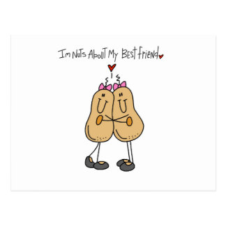 Nuts About My Best Friend T-shirts and Gifts Postcard